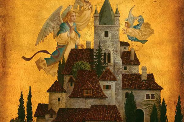 James Christensen. Angels of my village