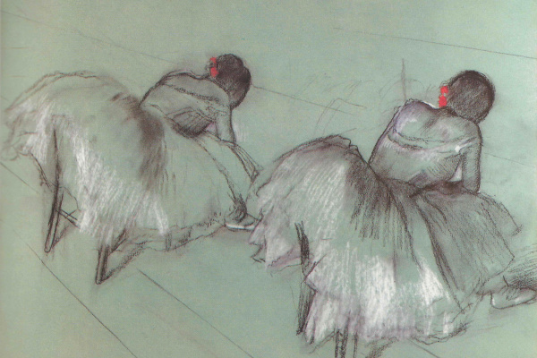 Edgar Degas. Two campers ballerina