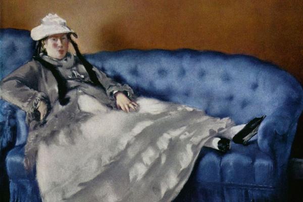 Эдуар Мане. Портрет госпожи Мане на синей софе