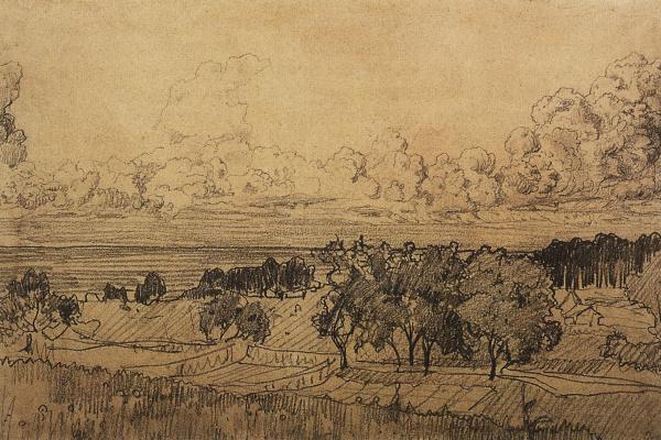 Constantin Somov. Landscape