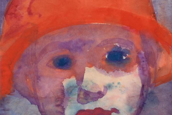 Эмиль Нольде. Девушка в красной шляпе