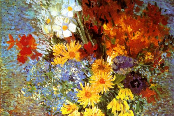 Винсент Ван Гог. Ваза с маргаритками и анемонами