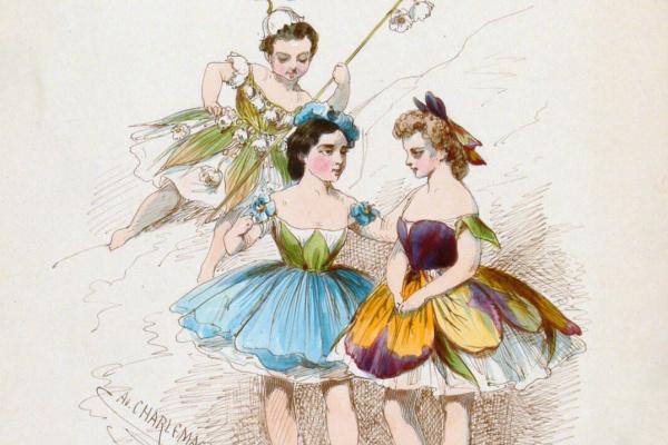 Адольф Иосифович Шарлемань. Эскиз женского костюма для балета М.И. Петипа «Королева льдов»