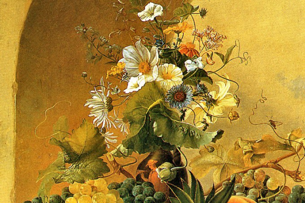 Майкл Вентцель. Натюрморт с фруктами и цветами