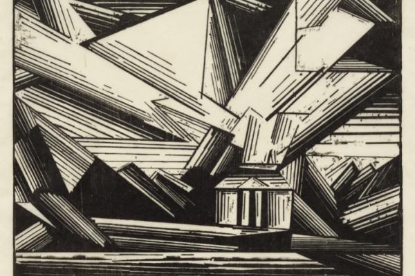 Lionel Feininger. Mansion on the beach