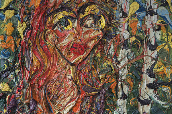 Ekaterina Алексеевна Lebedeva. Картина Abstract painting faces Oil on canvas Екатерина Лебедева художник живопись искусство