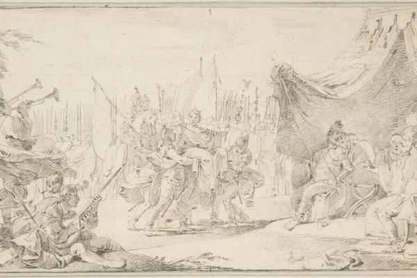 Giovanni Battista Tiepolo. The triumph of the Roman emperor