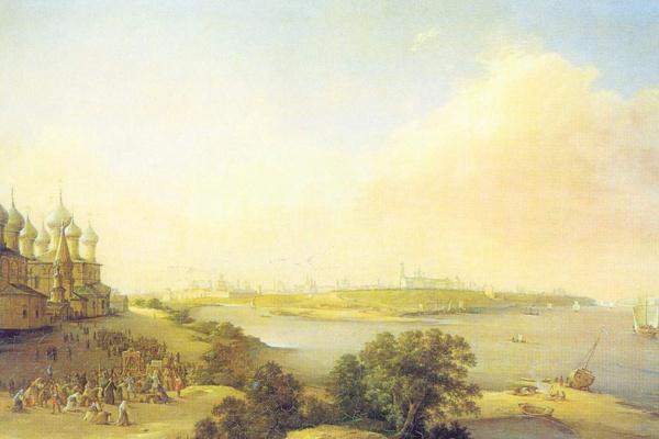 Nikanor Grigorievich Chernetsov. View of the city of Yaroslavl