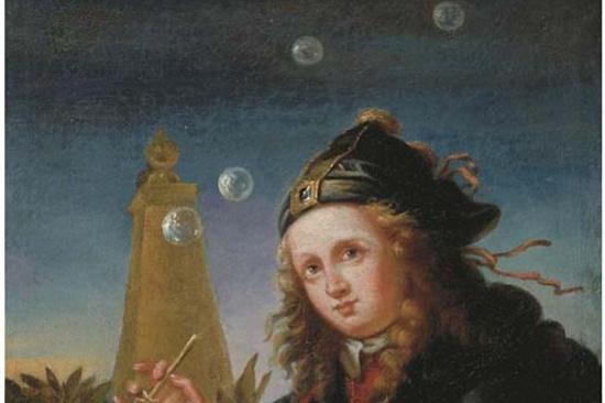 Follower of Reinier de la Haye. The boy and soap bubbles