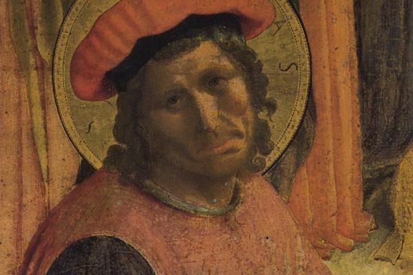 Фра Беато Анджелико. Святой Косьма. Алтарь монастыря Сан Марко, фрагмент (возможно, портрет Козимо Медичи)