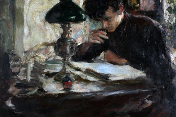 Семен Гавриилович Никифоров. За чтением