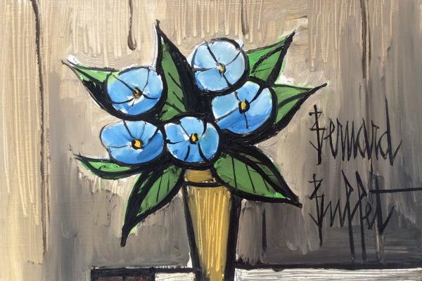 Bernard Buffet. Blue Primroses