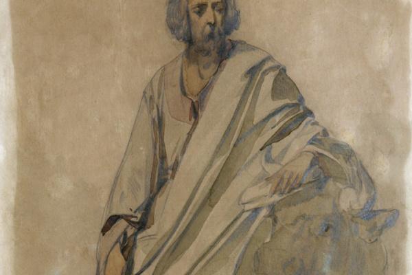 Иван Кузьмич Макаров. Евангелист Лука. 1850 Этюд