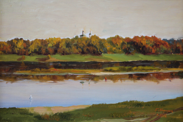 Gennady Shotovich Bartsits. Evening on the Oka River near Kasimov