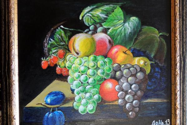 Наталья Досужая. Натюрморт с виноградом