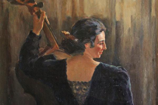 Анна Дмитриевна Кузнецова (1898 - 1979). Женщина с виолончелью