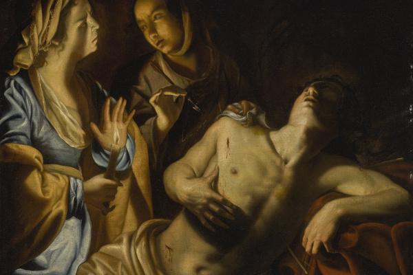 Артемизия Джентилески. Святая Ирина, ухаживающая за святым Себастьяном
