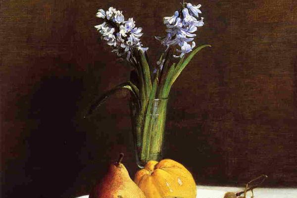 Henri Fantin-Latour. Hyacinths and fruits