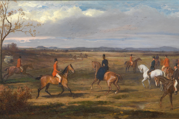 Wilhelm Richter. Emperor Franz Joseph I and Empress Elizabeth with a hunting party