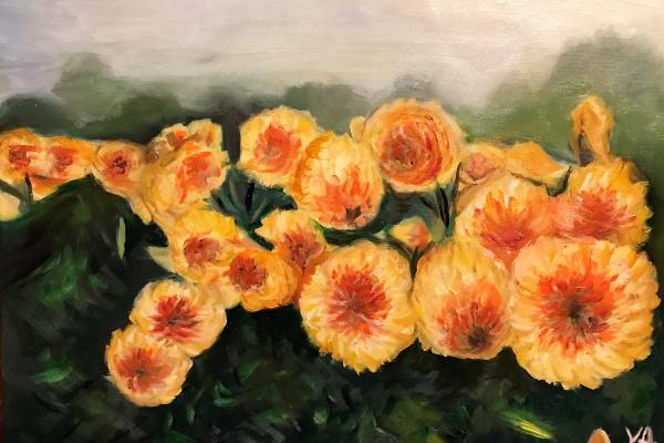 Ксения Андреевна Свияженинова. Желтые цветы