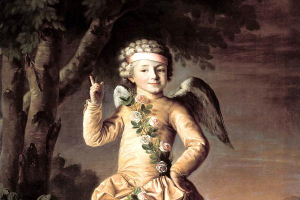 Nikolay Ivanovich Argunov. Portrait of Ivan Yakimov in costume of Cupid