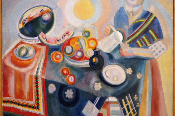 Robert Delaunay. La verseuse  (Nature morte portugaise)