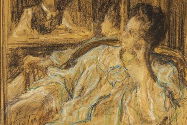 Леонид Осипович Пастернак. Автопортрет с женой Розалией Исидоровной (урожденной Кауфман). 1906