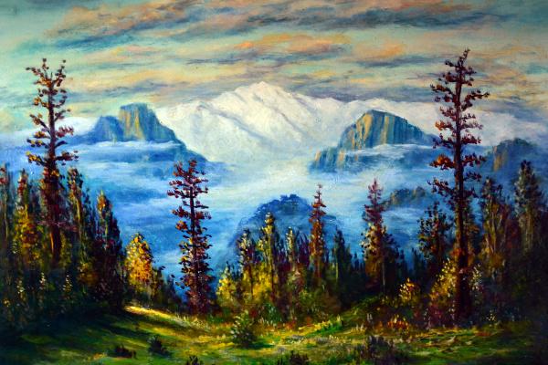 Наджаф Мамедов. Горный пейзаж