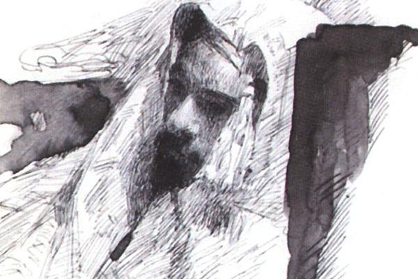 Михаил Васильевич Нестеров. Левитан в одежде бедуина