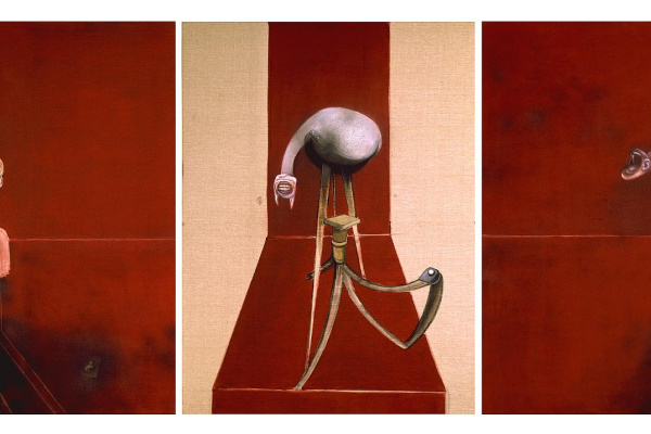 Francis Bacon. Three studies for figures at the base of a crucifixion (second version)