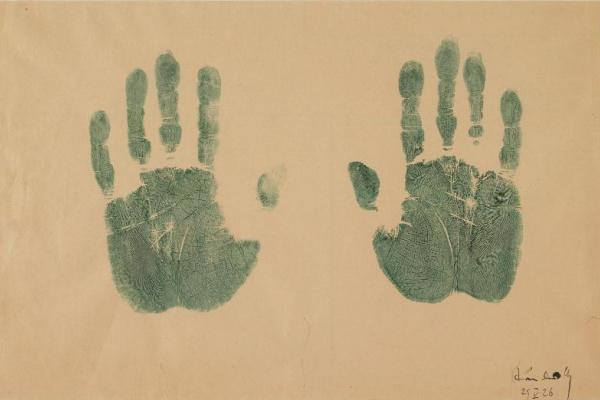 Wassily Kandinsky. Handprints of the artist