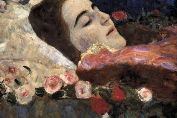 Густав Климт. Риа Мунк на смертном одре