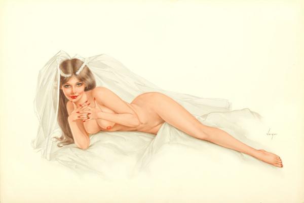 Альберто Варгас. Лежащая невеста.