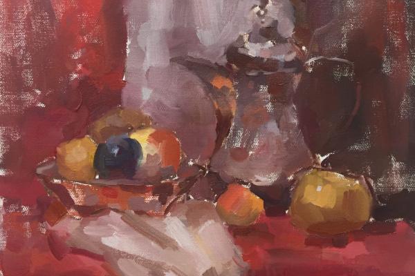 Anton Zhmurko. Red still life