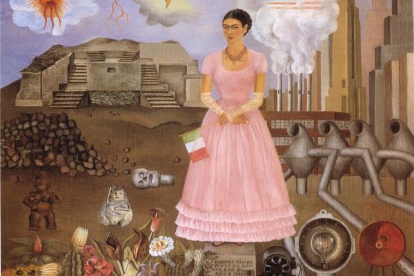 Фрида Кало. Автопортрет на границе между Мексикой и Соединенными Штатами