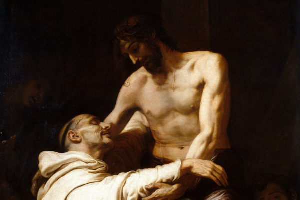 Francisco Ribalta. The appearance of Christ to St. Bernard
