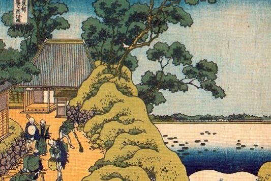Кацусика Хокусай. Водопад Тота Аой-га-Oкa