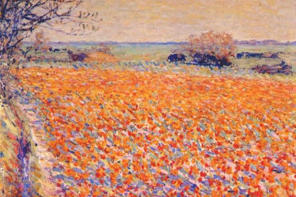 Неизвестный  художник. Тюльпановое поле