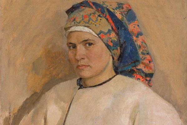 Татьяна Ниловна Яблонская. Автопортрет в украинском костюме
