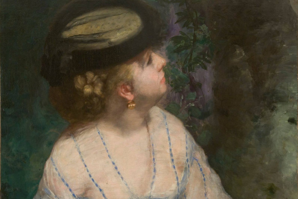 Pierre Auguste Renoir. Woman looking at a bird