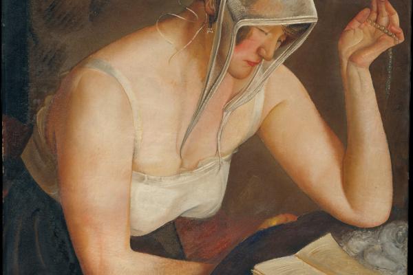 Борис Дмитриевич Григорьев. Читающая женщина