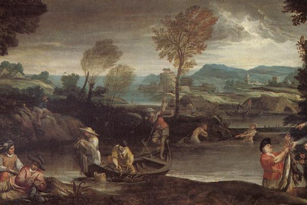 Аннибале Карраччи. Ловля рыбы