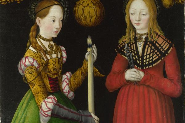 Lucas Cranach the Elder. Saints Genevieve and Apollonia