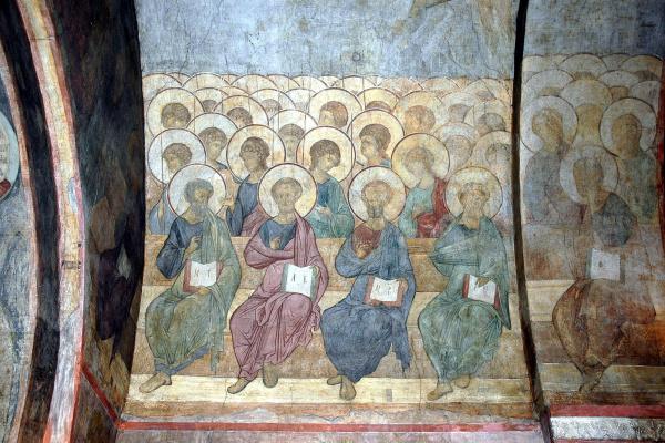 Андрей Рублев. Страшный суд: Ангелы и апостолы