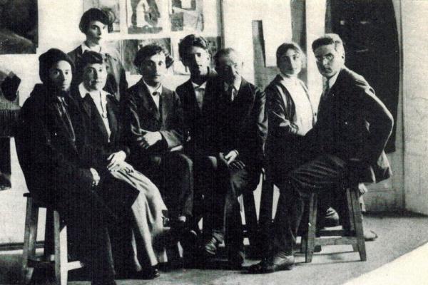 Юдель Пэн. Преподаватели Витебского народного художественного училища. Витебск, 26 июля 1919 года.