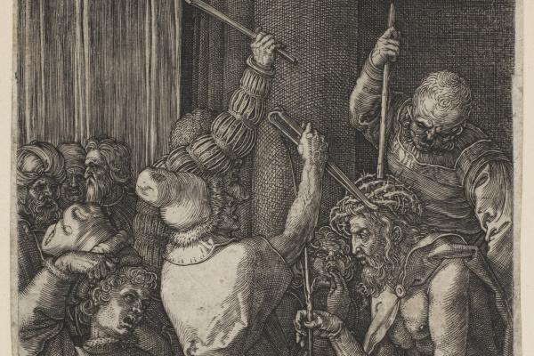 """Альбрехт Дюрер. Коронование терновым венцом. Из цикла """"Страсти Христовы"""""""