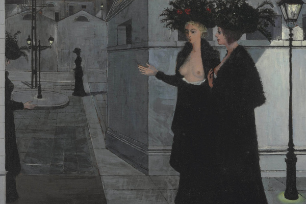 Paul Delvaux Belgium 1897-1994. Night walk. 1958 Private collection