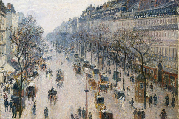 Camille Pissarro. The Boulevard Montmartre on a winter morning