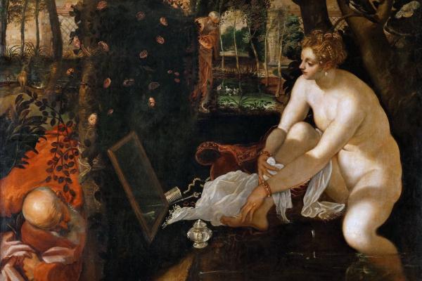 Jacopo Tintoretto. Susanna and the elders. Jacopo Tintoretto, 1557
