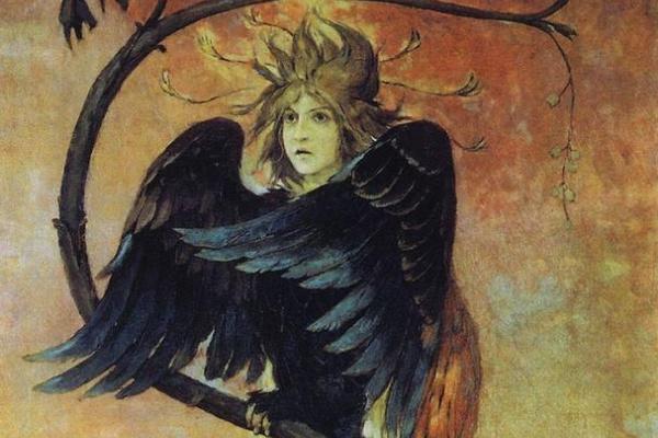 Victor Mikhailovich Vasnetsov. Gamayun, the prophetic bird